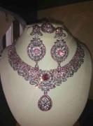 ridas pink stone necklace