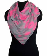 Love Print Polyester scarf