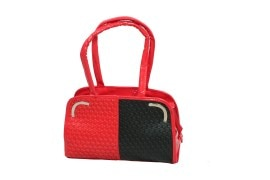 JMD Fashionable Hand-Held Bag For Women (Red & Black)