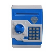 ATM Machine piggy bank for kids open with secret code electronic lock-Blue