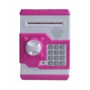 ATM Machine piggy bank for kids open with secret code electronic lock-Pink