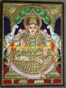 Tanjore painting of Gajalakshmi