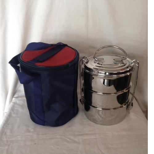 Stainless Steel Hot Tiffin 3 tire