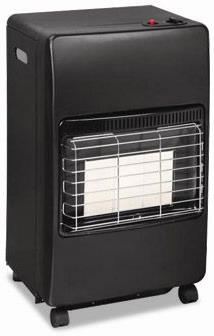 GENERAL AUX LPG MOBILE ROOM GAS HEATER WITH FREE REGULATOR AND PIPE