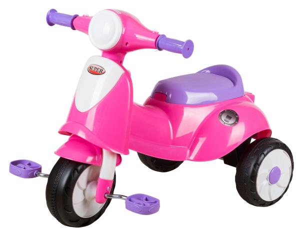 EZ' PLAYMATES ITALIAN SCOOTER KIDS TRICYCLE PINK