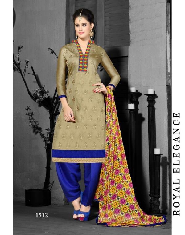 Chanderi Self Design, Embroidered Semi-stitched Salwar Suit Dupatta Material