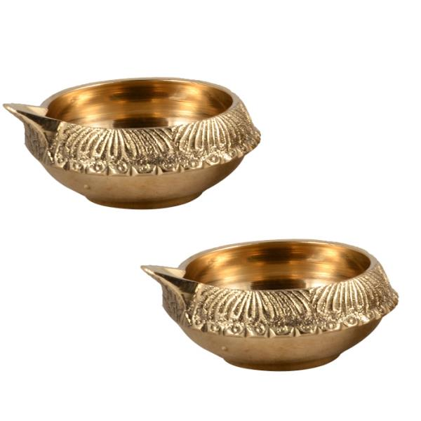 Brass Diya Set