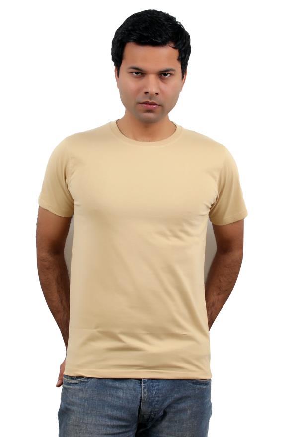 Wintex Round Neck Camle color Men's T-shirt