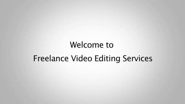video editing services in London