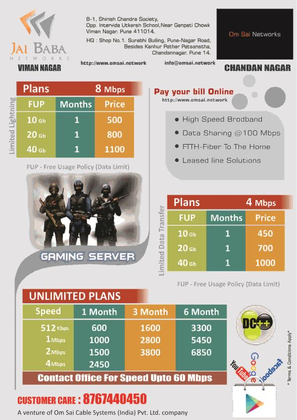 8 Mbps 40 Gb Plan (Limited Plan)