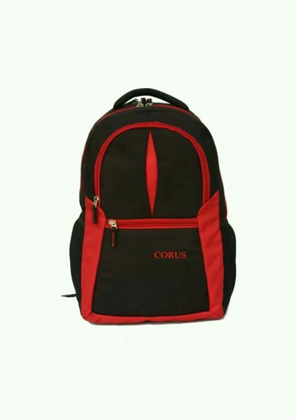 Corus Black Red Laptop Backpack 588