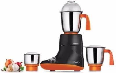 Pigeon Egnite 750 W Mixer Grinder (Black, Orange 3 Jars)