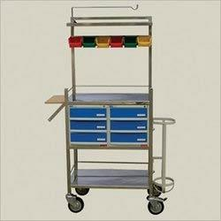 Stainless Steel Canteen Tea Trolley