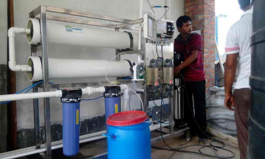 RO process for raw water tretment