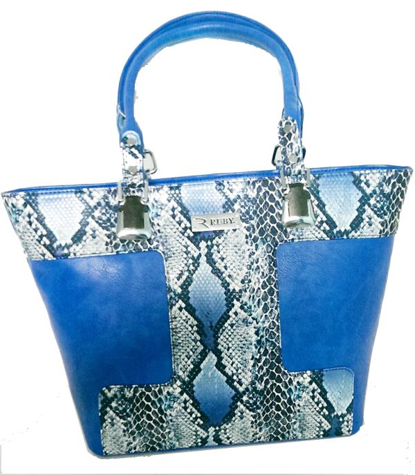 Ruby blue shoulder hand bags