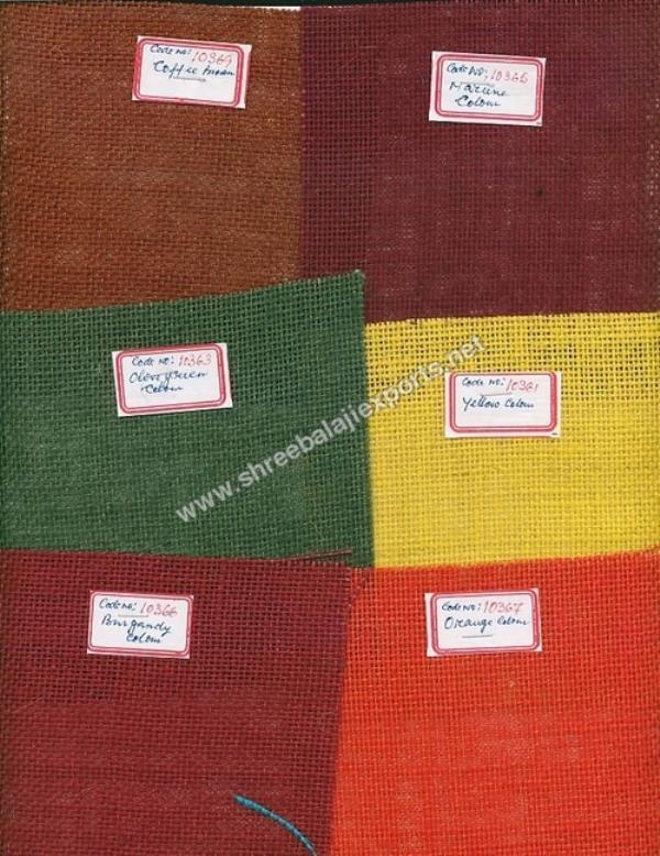 Coloured Hessian Cloth