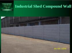Industrial Shed Compound Wall