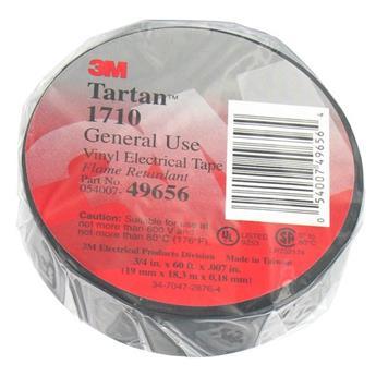 3M TARTAN 1710 PVC ELECTRICAL TAPE-(19MMX18.1MTR)-100 ROLLS