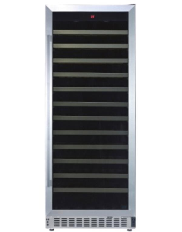 WINE COOLER 102 BOTTLES WHITE WESTINGHOUSE USA - SINGLE ZONE, BUILT-IN FOR RED / WHITE / SPARKLING WINES WITH STAINLESS STEEL DOOR FRAME