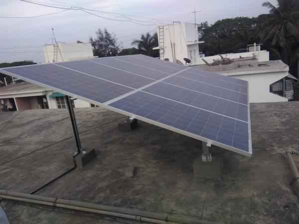 	Solar Panels: Polycrystalline Silicon, 300 Wp - 10 Nos        Efficiency: >15%, IEC Certified, with 5 years warranty, 	Solar Inverter 3 kw: Solar Grid-tied Inverter  with MPPT charging, Efficiency: >95%, IP 65, with 5 years warranty	Module mounting structure: Hot Dip Galvanized    	DC MCB	AC DB with MCB & SPD	Cables, Connector & accessories	Earthing GI	Installation IncludedTerms & Conditions:Price: Ex works – Pune, including supply, installation and  Commissioning of the systemPayment Terms: 50 % Advance, 40 % against material delivery, 10% after installationExpected Average monthly Electricity Units produced by this Plant in Pune is 360-420 units Payback period is approx 5-6 yearsRooftop Area required for PV panel installation is 300-350 sq ft facing south direction and without shadows between 9 am to 5 pm.