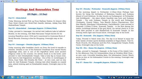 Heritage And Saurashtra Tour ( 09 Night - 10 Days )