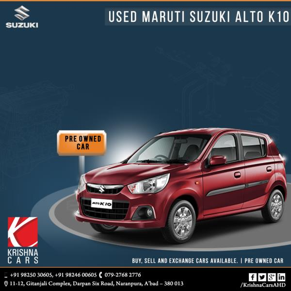 Pre-owned (used) Maruti Suzuki Alto K10 car for sale in Ahmedabad