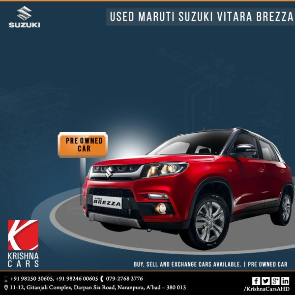 Pre-owned (used) Maruti Suzuki Vitara Brezza car for sale in Ahmedabad