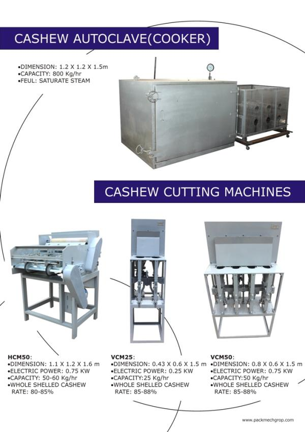 VCM50 - Vertical Cashew Cutting Machine