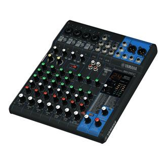 """yamaha 10-Channel Mixing Console Max. 4 Mic / 10 Line Inputs (4 mono + 3 stereo) 1 Stereo Bus 1 AUX (incl. FX) """"D-PRE"""" mic preamps with an inverted Darlington circuit 1-Knob compressors High-grade effects: SPX with 24 programs 24-bit / 192kHz 2in / 2out USB Audio functions Works with the iPad (2 or later) through the Apple iPad Camera Connection Kit / Lightning to USB Camera Adapter Includes Cubase AI DAW software download version PAD switch on mono inputs +48V phantom power XLR balanced outputs"""
