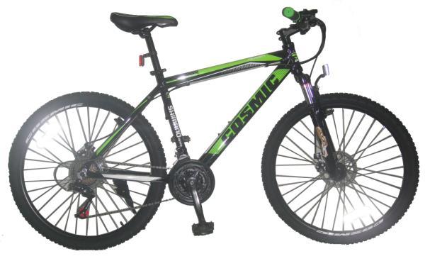 COSMIC FLASH MTB BICYCLE (21 SPEED) BLACK/GREEN