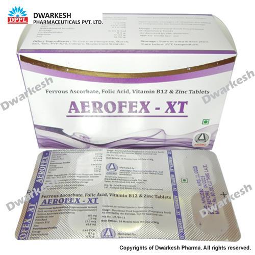 Ferrous Ascorbate, Folic Acid, Vitamin B12 & Zinc Tablets