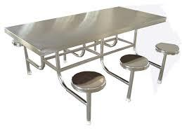 SS Canteen Table With Stool