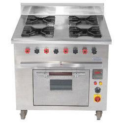 SS Four Burner Range with Oven