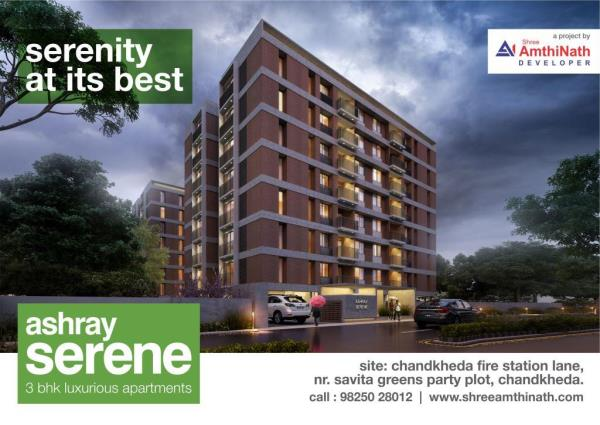 Ashray Serene - 3 BHK luxurious apartments in Ahmedabad