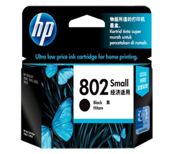 HP 802 Black Ink Cartridge CH561ZZ