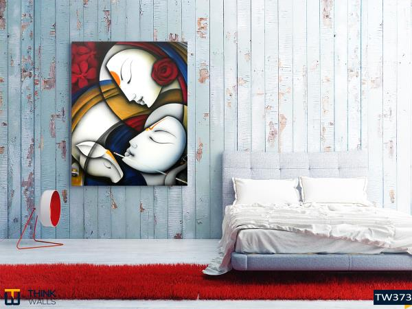 Radha Krishna fine art canvas & BUY Radha Krishna fine art canvas in Hyderabad India from THINK WALLS