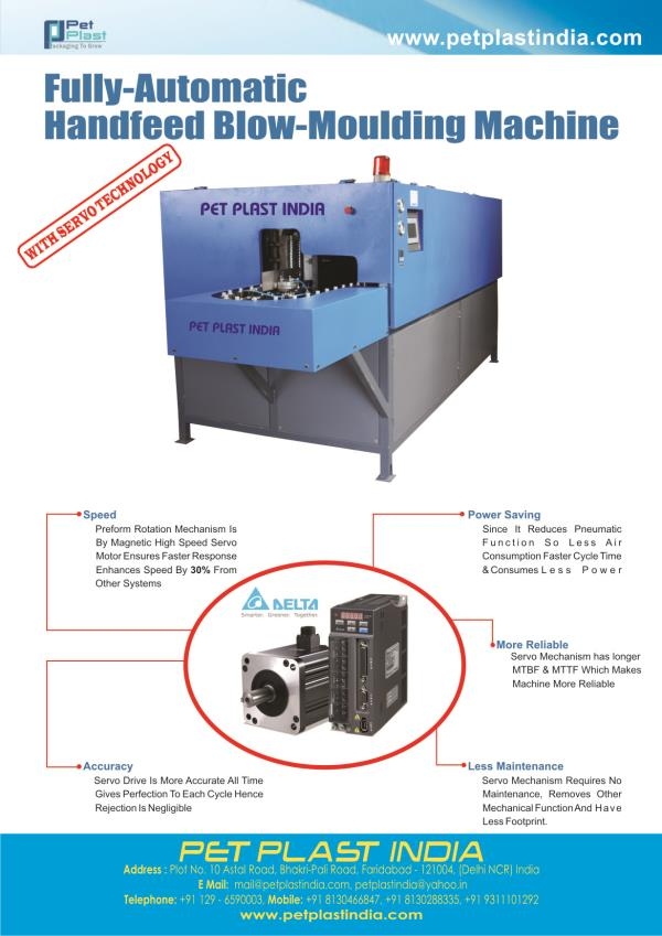 Handfeed Automatic PET Blowing Machine