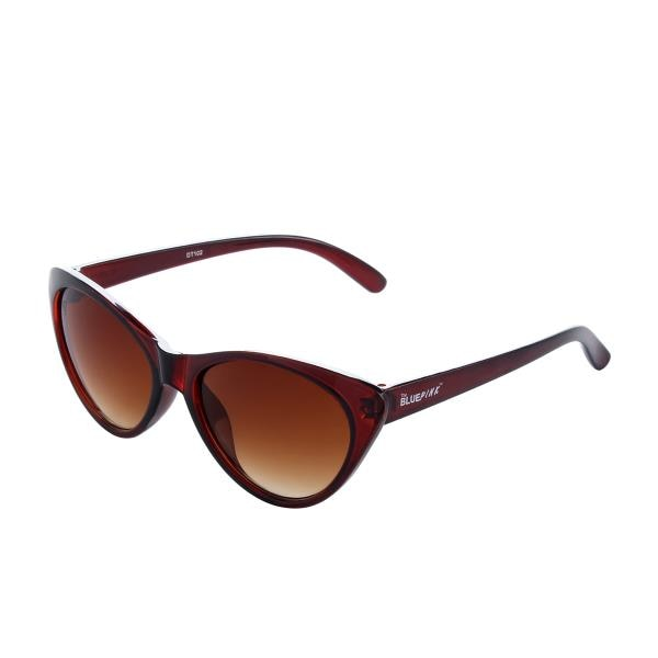 The Blue Pink UV Protected Cat-Eye Women Sunglasses (CAT-0202|Brown Lens)