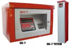 The GK-7 own consumption is a equipment suitable for the supply control, allowing its use only to authorized personnel.Depending on the security level that you want to implement, we can identify the user and/or the vehicle through codes and/or identification key.Supply with or without preset litresThe GK-7 controller in TOTEM column chassis, to be directly fixed on the ground without bases or additional accessories, is made of steel. It can placed in the outside; then the controller is protected and it is long-lasting because of the special interior and exterior treatment against corrosion.Supplier in - Mumbai, Bangalore, Vapi, Surat, Rajkot, Bihar, Kanpur, Kerala, Jaipur-Rajasthan, Chennai, Pune, Nagpur, Nashik, Chandigarh, Delhi, Amritsar, Jalandhar and Kolkata