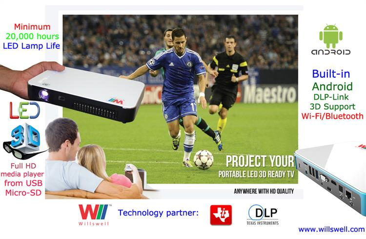 DLP LED 3D Android Projector