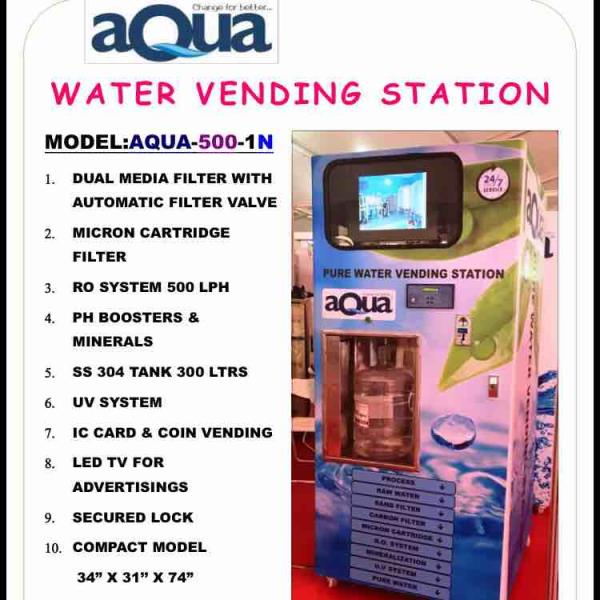 Pure water vending station / pure water vending macine