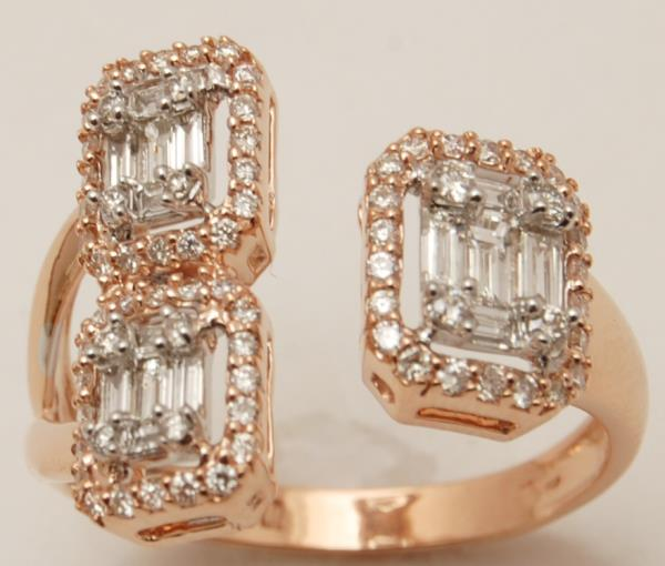 Designer Large Asher Diamond Rose Gold Design For Wedding