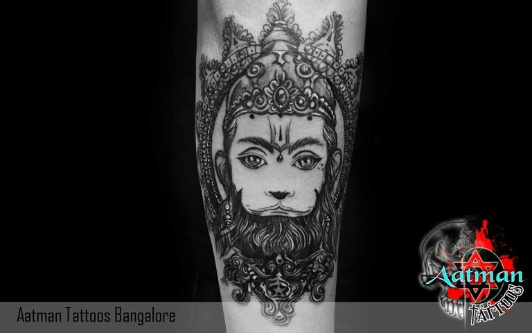 Hanuman Tattoo by Bhavith Narayan At Aatman Tattoos Bangalore