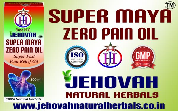 SUPER FAST PAIN RELIEF OIL - SUPER MAYA - GMP, ISO CERTIFIED COMPANY