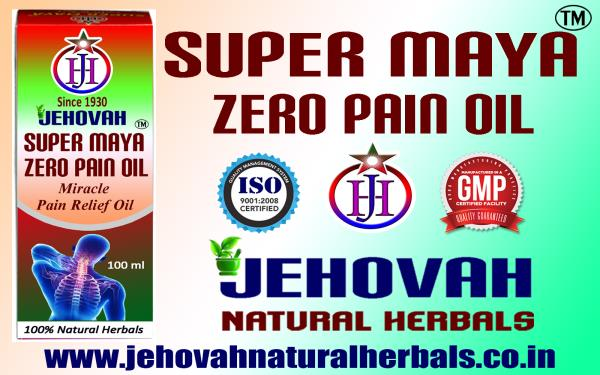 MIRACLE ZERO PAIN HERBAL OIL- SUPER MAYA-GMP, ISO  CERTIFIED COMPANY