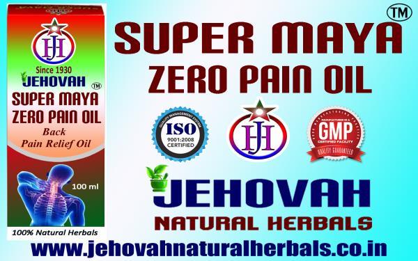 ZERO BACK PAIN RELIEF OIL-SUPER MAYA ZERO PAIN  - GMP, ISO  CERTIFIED COMPANY
