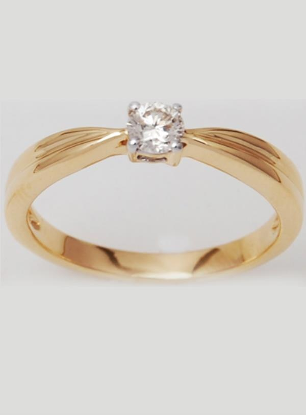 Affordable Solitaire Prong Set Diamond Unisex Ring