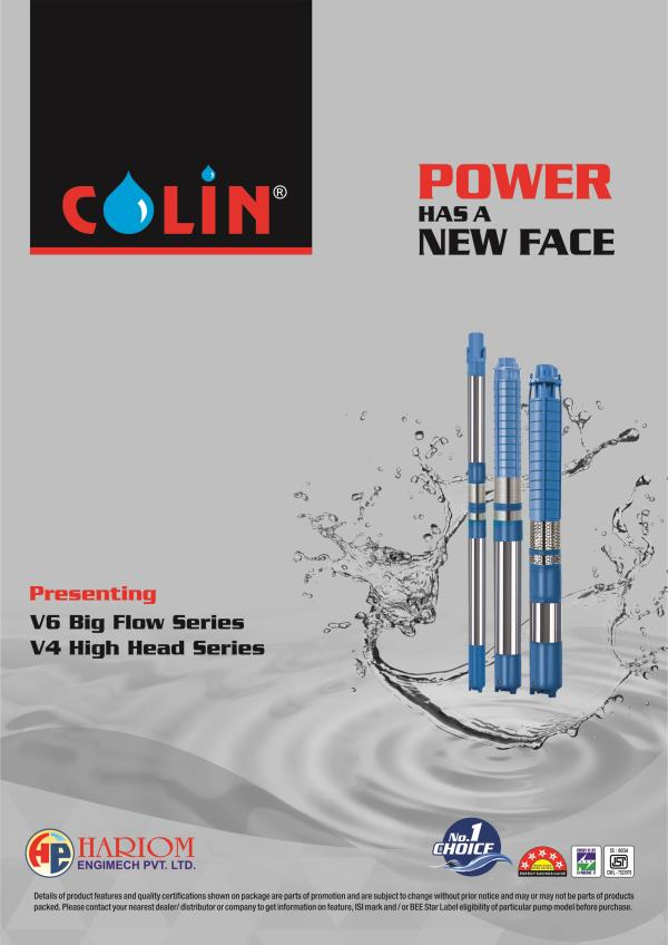 Colin V6 submersible big flow series