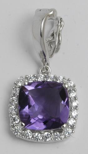 Pretty Purple Amethyst Big Gemstone Pendant