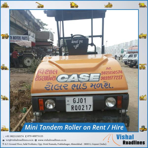 Mini Tandem Roller on Rent  (hire) in Ahmedabad, Gujarat, India